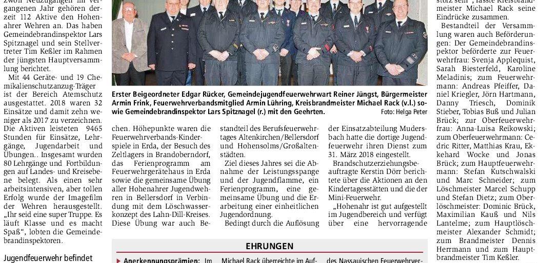 Permalink auf:JHV – Feuerwehr Hohenahr